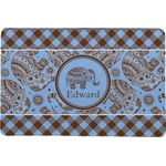 Gingham & Elephants Comfort Mat (Personalized)