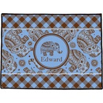 Gingham & Elephants Door Mat (Personalized)