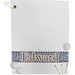 Gingham & Elephants Golf Towel (Personalized)