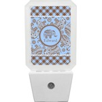 Gingham & Elephants Night Light (Personalized)