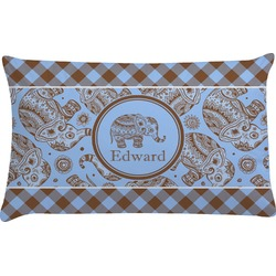 Gingham & Elephants Pillow Case (Personalized)