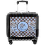 Gingham & Elephants Pilot / Flight Suitcase (Personalized)