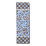 Gingham & Elephants Runner Rug - 3.66'x8' (Personalized)