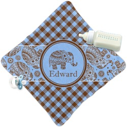Gingham & Elephants Security Blanket (Personalized)