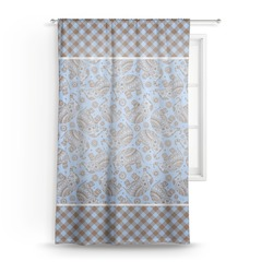 Gingham & Elephants Sheer Curtains (Personalized)