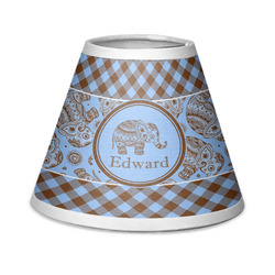 Gingham & Elephants Chandelier Lamp Shade (Personalized)