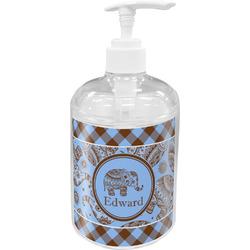 Gingham & Elephants Acrylic Soap & Lotion Bottle (Personalized)