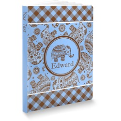 Gingham & Elephants Softbound Notebook (Personalized)