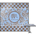 Gingham & Elephants Square Table Top (Personalized)
