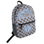 Gingham & Elephants Student Backpack (Personalized)