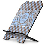Gingham & Elephants Stylized Tablet Stand (Personalized)