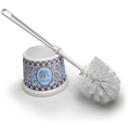 Gingham & Elephants Toilet Brush (Personalized)