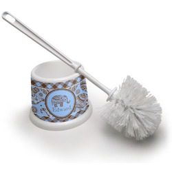 Gingham & Elephants Toilet Brush (Personalized)