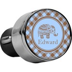 Gingham & Elephants USB Car Charger (Personalized)