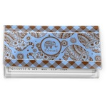 Gingham & Elephants Vinyl Checkbook Cover (Personalized)