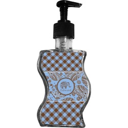 Gingham & Elephants Wave Bottle Soap / Lotion Dispenser (Personalized)
