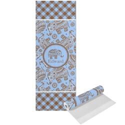 Gingham & Elephants Yoga Mat - Printed Front (Personalized)