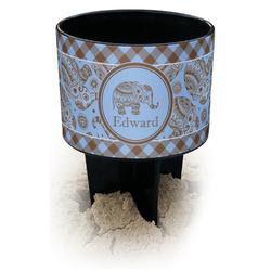 Gingham & Elephants Black Beach Spiker Drink Holder (Personalized)