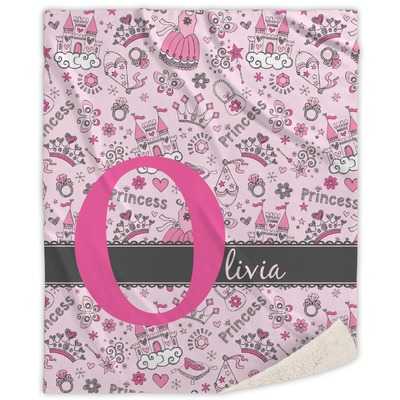 Princess Sherpa Throw Blanket (Personalized)
