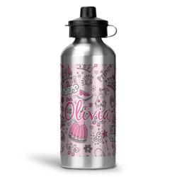 Princess Water Bottle - Aluminum - 20 oz (Personalized)