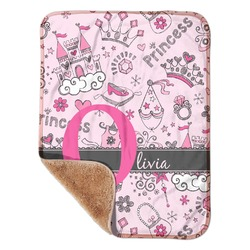 "Princess Sherpa Baby Blanket 30"" x 40"" (Personalized)"
