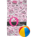 Princess Beach Towel (Personalized)