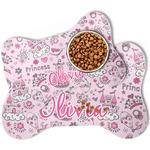 Princess Bone Shaped Dog Food Mat (Personalized)