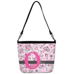 Princess Bucket Bag w/ Genuine Leather Trim (Personalized)