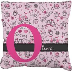 Princess Faux-Linen Throw Pillow (Personalized)