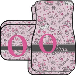Princess Car Floor Mats Set - 2 Front & 2 Back (Personalized)
