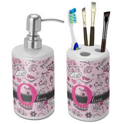 Princess Ceramic Bathroom Accessories Set (Personalized)