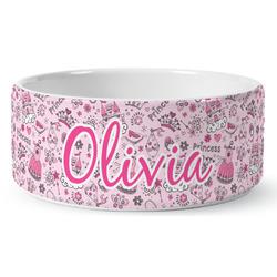 Princess Ceramic Pet Bowl (Personalized)