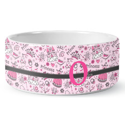 Princess Ceramic Dog Bowl (Personalized)