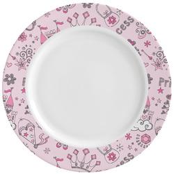 Princess Ceramic Dinner Plates (Set of 4) (Personalized)
