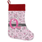 Princess Holiday Stocking w/ Name and Initial