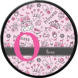 Princess Round Trailer Hitch Cover (Personalized)