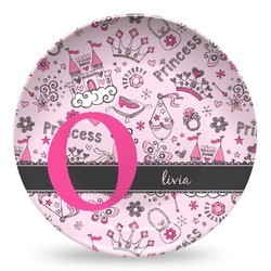 Princess Microwave Safe Plastic Plate - Composite Polymer (Personalized)