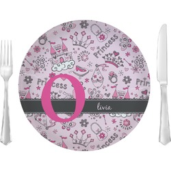 "Princess 10"" Glass Lunch / Dinner Plates - Single or Set (Personalized)"
