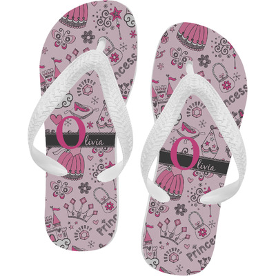 Princess Flip Flops - XSmall (Personalized)