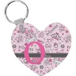Princess Heart Keychain (Personalized)
