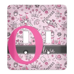 Princess Light Switch Cover (2 Toggle Plate) (Personalized)