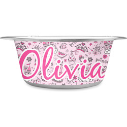 Princess Stainless Steel Pet Bowl (Personalized)