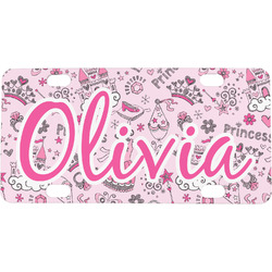 Princess Mini / Bicycle License Plate (4 Holes) (Personalized)