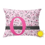 Princess Outdoor Throw Pillow (Rectangular) (Personalized)