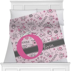 "Princess Fleece Blanket - Twin / Full - 80""x60"" - Double Sided (Personalized)"