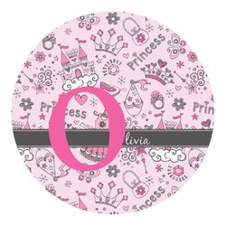Princess Round Decal - Custom Size (Personalized)