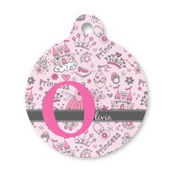 Princess Round Pet Tag (Personalized)