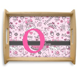 Princess Natural Wooden Tray - Large (Personalized)