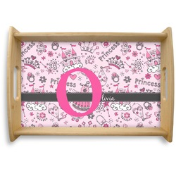 Princess Natural Wooden Tray - Small (Personalized)