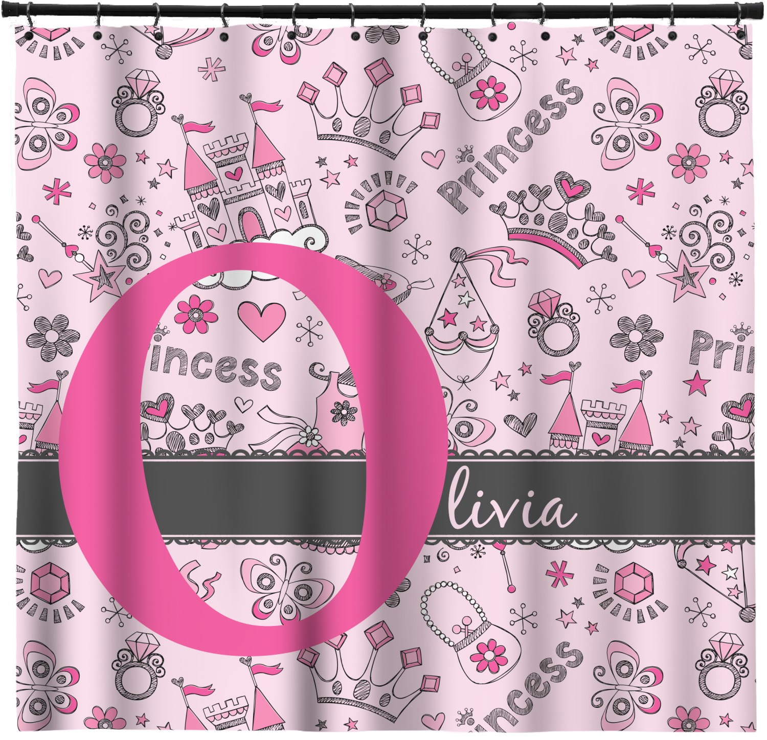 Princess Shower Curtain Personalized